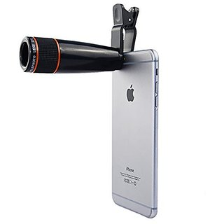 Generic Universal 8X Zoom Mobile Phone Telescope Lens with Adjustable Clip