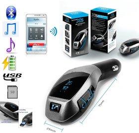 X5 Bluetooth Car Kit Mp3 Player FM Transmitter Handsfree Wireless USB TF Charger