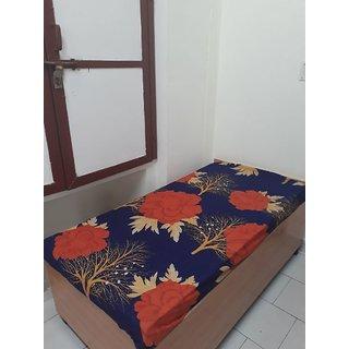 K Decor 1 Single Polycotton Blue Bedsheet (Set of 1)
