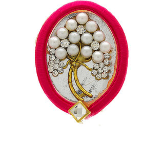 8a3e61d97 Anuradha Art Pink Colour Styled With Pearl Beads Adorable Handmade Designer  Saree Pin/Brooch For Women/Girls
