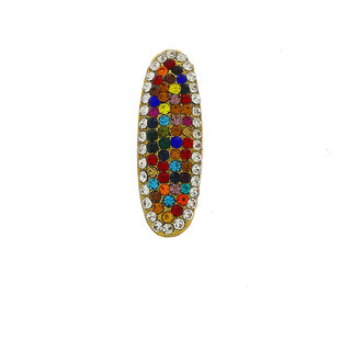 Anuradha Art Multi Colour Studded Shimmering Stones Stylish Designer Saree Pin/Brooch For Women/Girls