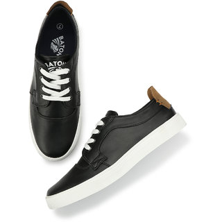 Men's Black & White Lace-up Outdoors