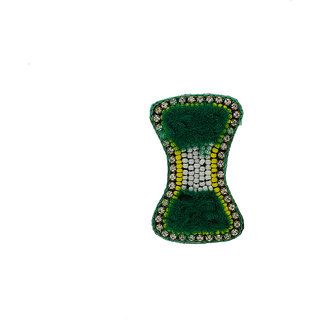 Anuradha Art Green Colour Simple & Stylish Beautiful Designer Saree Pin/Brooch For Women/Girls