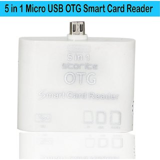 Storite 5 in 1 Micro USB OTG Smart Card Reader SD(HC) M2 MMC MS TF