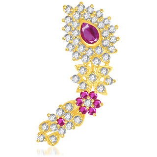 VK Jewels Traditional Gold Plated Maharashtrian Nose Ring - NR1002G [VKNR1002G]