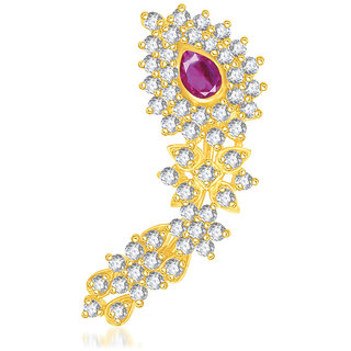 VK Jewels Traditional Gold Plated Maharashtrian Nose Ring - NR1001G [VKNR1001G]