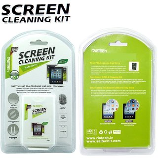 Riatech Premium Quality 2 In 1 Screen Cleaning Kit With Microfiber Cloth - For Laptops Mobiles Lcd Led Computers Tv
