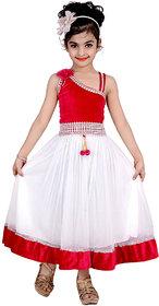 Kbkidswear Girl'S Solid Design Fashion Neck Gown Dress