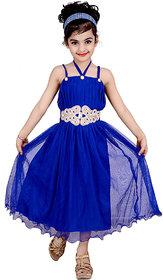 Kbkidswear Girls Solid Design Fashion Neck Gown Dress