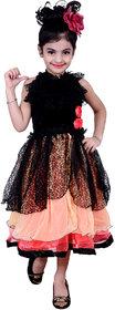 Kbkidswear Girl'S Self Design Round Neck Gown Dress