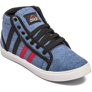 Asian Mens Sky Blue Sneakers