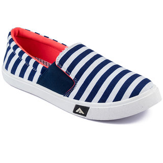 Asian Mens Navy Orange Sneakers