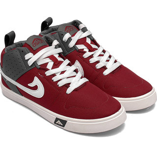 Asian Mens Maroon Sneakers