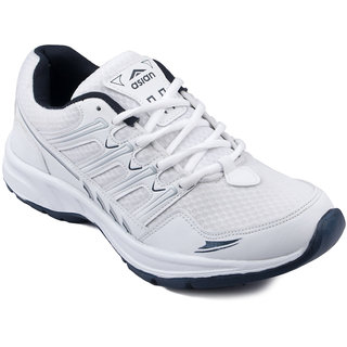 Asian Men's White,Blue Running Shoe