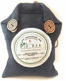 The Tree Company Air Bags- Air Purifying Bag/Deodorizer -100 Coconut Activated Carbon Naturally Purifies Air Removes Od