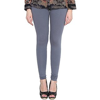 Alishah Cotton Lycra Churidar Leggings For Womens And Girls Grey