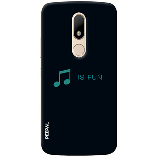 PEEPAL Motorola Moto M Designer & Printed Case Cover 3D Printing Music Is Fun Design