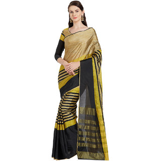 79dbd41ed1cdb Buy Florence Black   Gold Cotton Silk Printed Saree with Blouse Online -  Get 83% Off