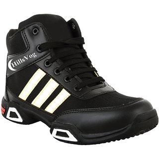 Hillsvog Black-white  Riders men shoes-5011