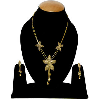 Bhagya Lakshmi Gold Star Pendent Necklace For Women