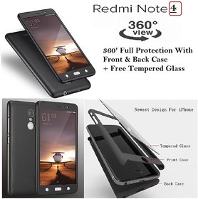 Redmi 4 / 4X  High Quality 360 Full Protective Case and Glass