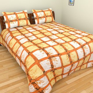 Spangle premium Cotton king Size Designer Printed GC Bed Sheet