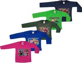 Jisha Fashion full sleeve T shirt unisex (3 Months to 7 Years) pack of 5