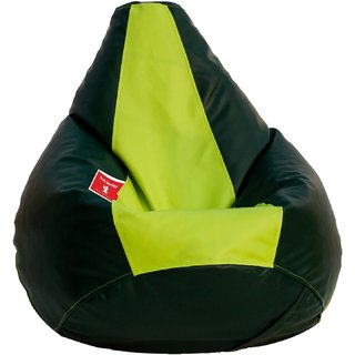 Comfy Bean Bag DARK GREEN P GREEN L SIZE Without Fillers - Cover Only