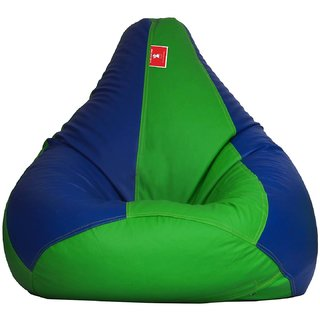Comfy Bean Bag GREEN BLUE L SIZE Without Fillers - Cover Only