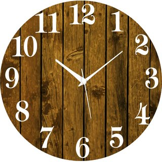 Vidhi Creation Circular Analog Wall Clock RND-SHW0001 - Pack of 1