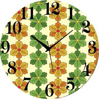 Vidhi Creation Circular Analog Wall Clock RND-SHW0165 - Pack of 1