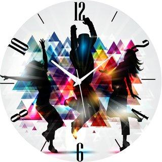 Vidhi Creation Circular Analog Wall Clock RND-SHW0185 - Pack of 1