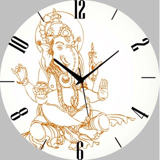 Vidhi Creation Circular Analog Wall Clock RND-SHW0105 - Pack of 1