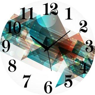 Vidhi Creation Circular Analog Wall Clock RND-SHW0186 - Pack of 1