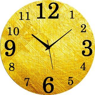 Vidhi Creation Circular Analog Wall Clock RND-SHW0413 - Pack of 1