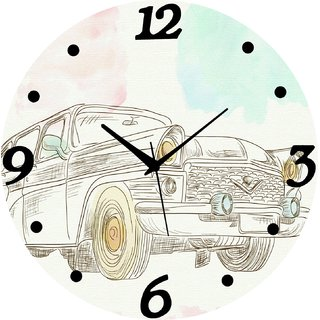 Vidhi Creation Circular Analog Wall Clock RND-SHW0145 - Pack of 1
