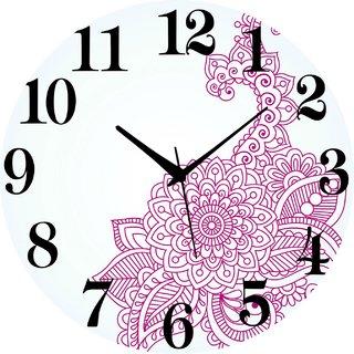 Vidhi Creation Circular Analog Wall Clock RND-SHW0147 - Pack of 1