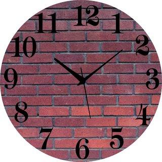 Vidhi Creation Circular Analog Wall Clock RND-SHW0188 - Pack of 1
