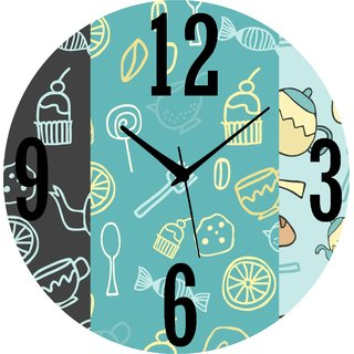 Vidhi Creation Circular Analog Wall Clock RND-SHW0379 - Pack of 1