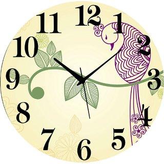 Vidhi Creation Circular Analog Wall Clock RND-SHW0148 - Pack of 1