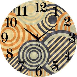 Vidhi Creation Circular Analog Wall Clock RND-SHW0190 - Pack of 1