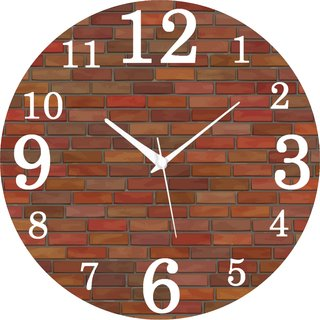 Vidhi Creation Circular Analog Wall Clock RND-SHW0380 - Pack of 1