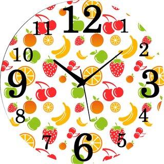 Vidhi Creation Circular Analog Wall Clock RND-SHW0381 - Pack of 1