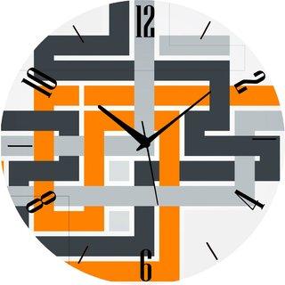 Vidhi Creation Circular Analog Wall Clock RND-SHW0152 - Pack of 1