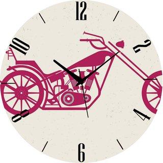 Vidhi Creation Circular Analog Wall Clock RND-SHW0192 - Pack of 1