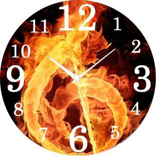 Vidhi Creation Circular Analog Wall Clock RND-SHW0421 - Pack of 1