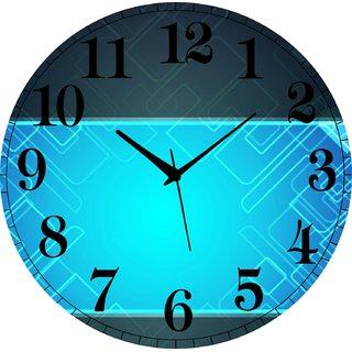 Vidhi Creation Circular Analog Wall Clock RND-SHW0114 - Pack of 1