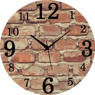 Vidhi Creation Circular Analog Wall Clock RND-SHW0471 - Pack of 1