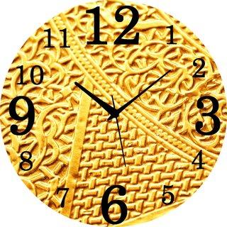 Vidhi Creation Circular Analog Wall Clock RND-SHW0472 - Pack of 1