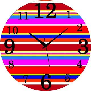 Vidhi Creation Circular Analog Wall Clock RND-SHW0254 - Pack of 1